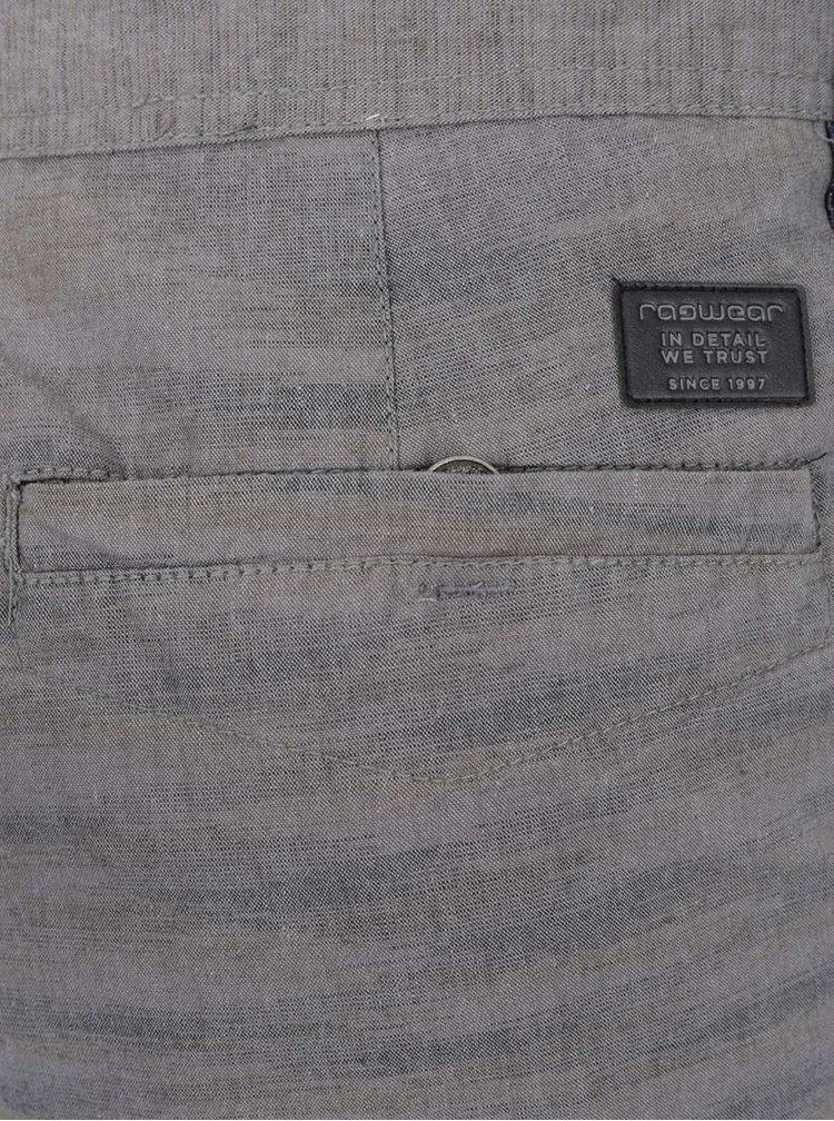 Pantaloni scurti gri Ragwear Kurt din bumbac cu model discret