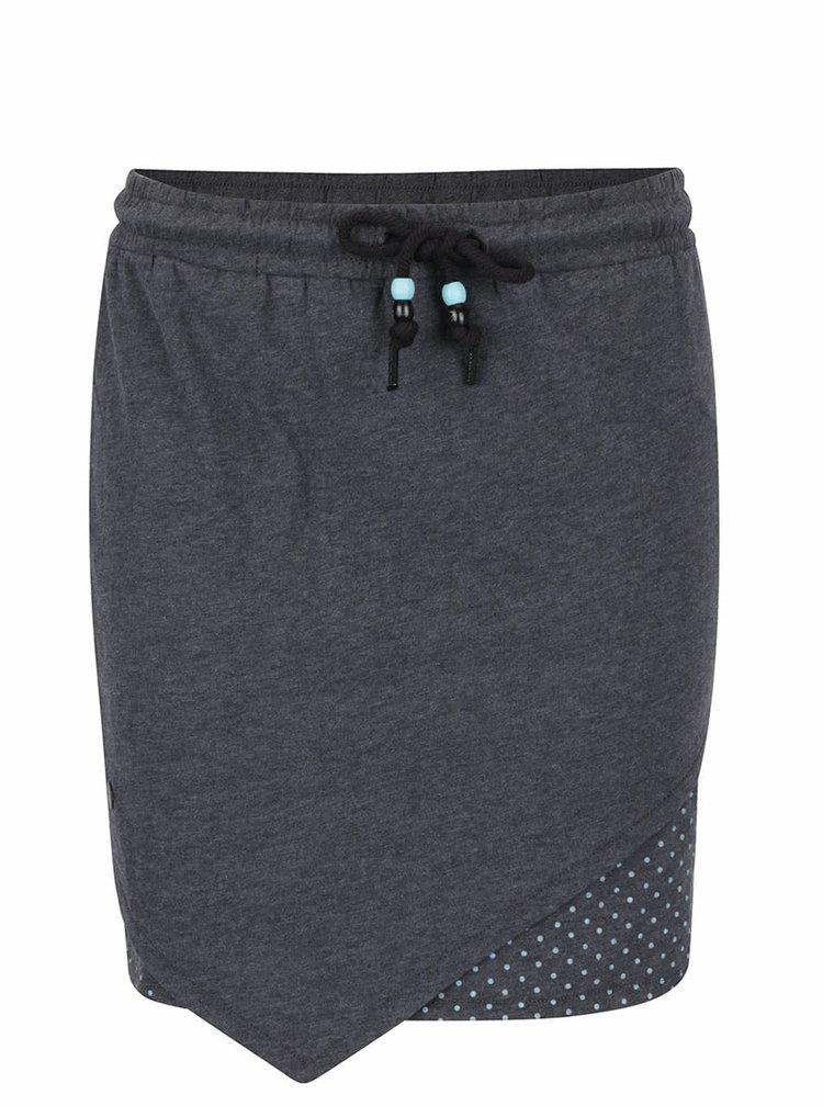 Tmavě šedá sukně s puntíkovanou podšívkou Ragwear Ramona B