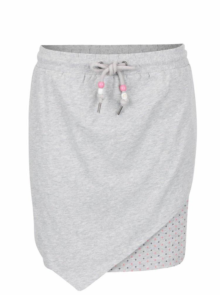Světle šedá sukně s puntíkovanou podšívkou Ragwear Ramona B