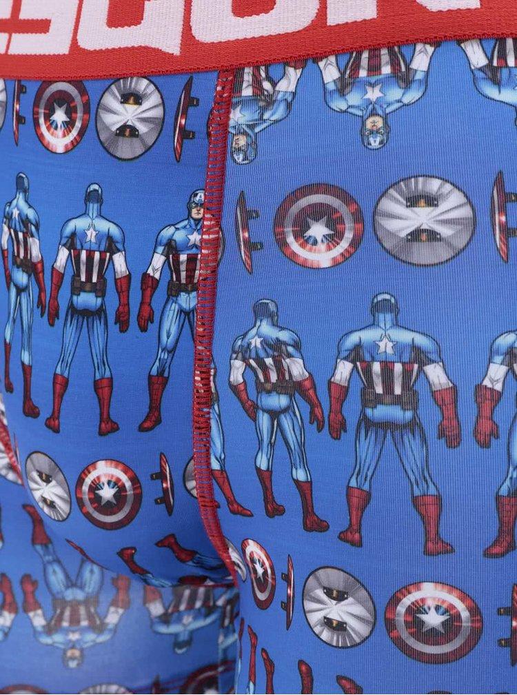Červeno-modré boxerky s potiskem Marvel Freegun