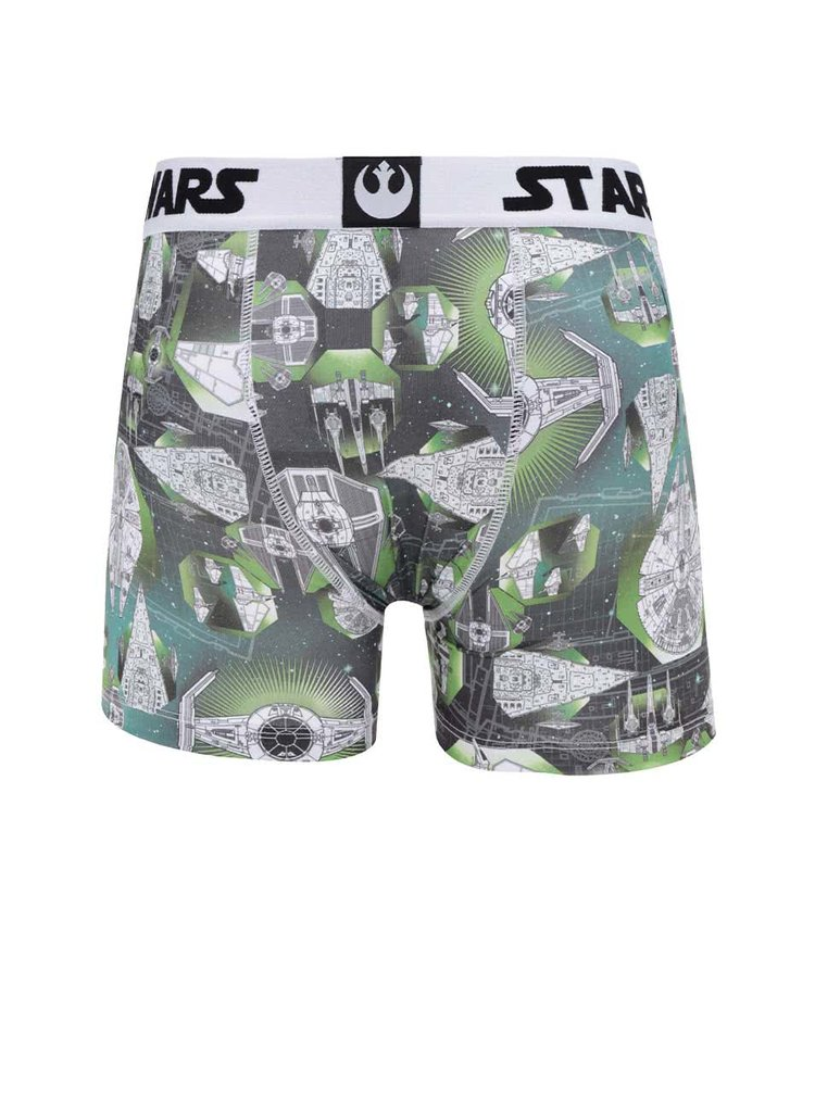 Bílo-zelené boxerky s potiskem Star Wars Freegun