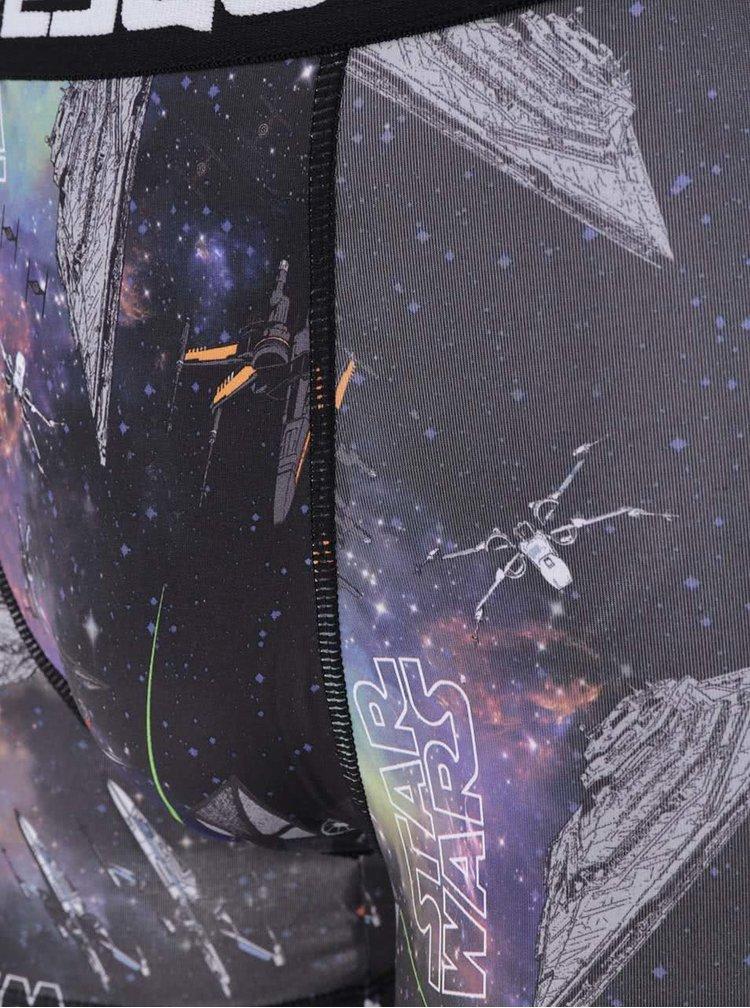 Fialovo-černé boxerky s potiskem Star Wars Freegun