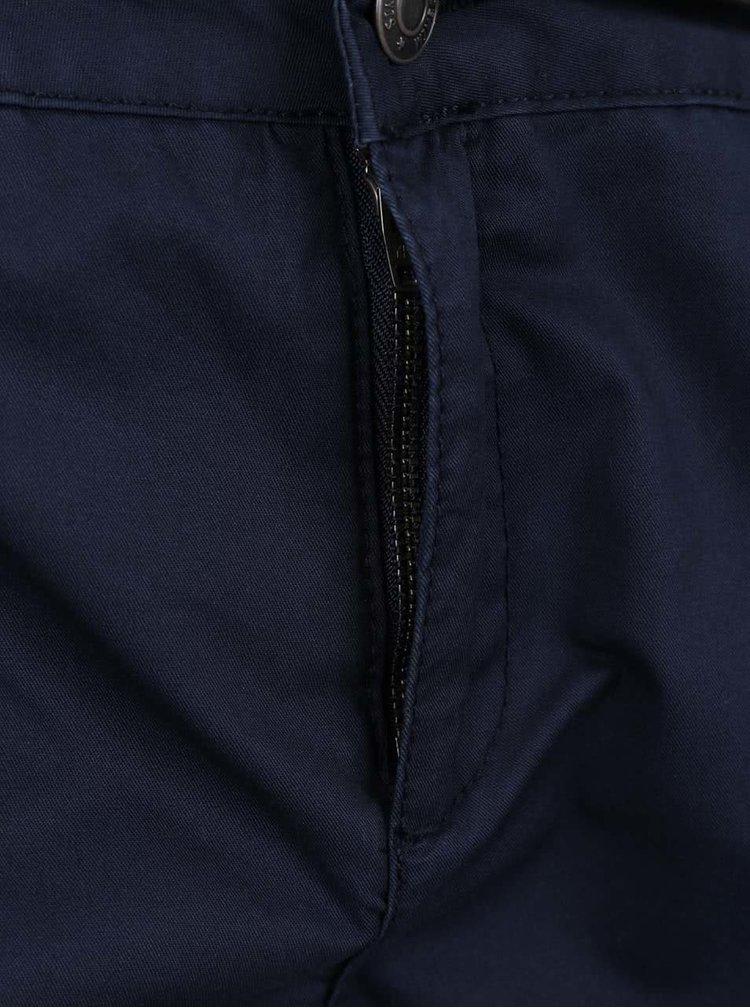Tmavě modré kraťasy s páskem VERO MODA Boni
