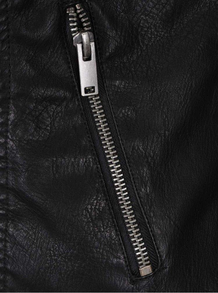 Čierna koženková bunda Noisy May Rebel