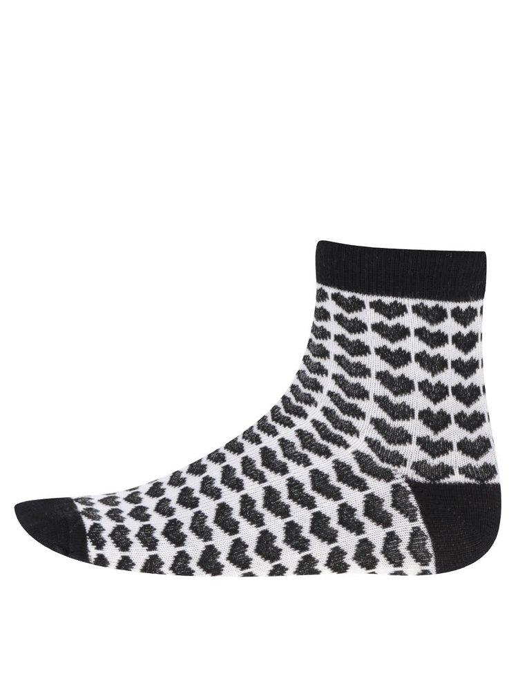 Sada tří vzorovaných holčičích ponožek v černé a bílé barvě 5.10.15.