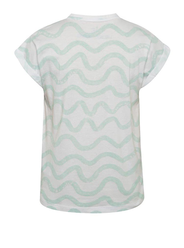 Bílé vzorované holčičí tričko 5.10.15.
