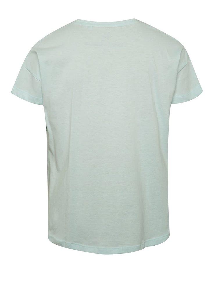 Světle modré holčičí tričko s flitry 5.10.15.