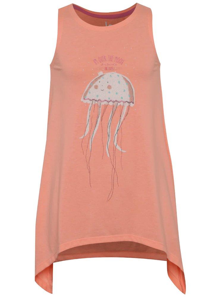 Oranžové holčičí tílko s motivem medúzy 5.10.15.