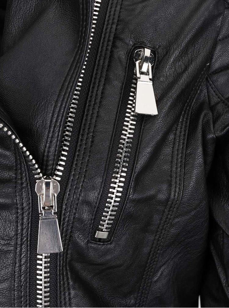 Černý koženkový křivák Haily´s Vanessa