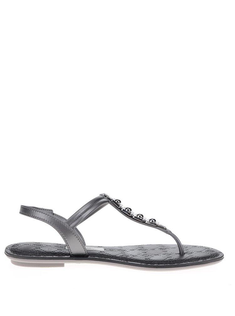 Sandály ve stříbrné barvě Grendha