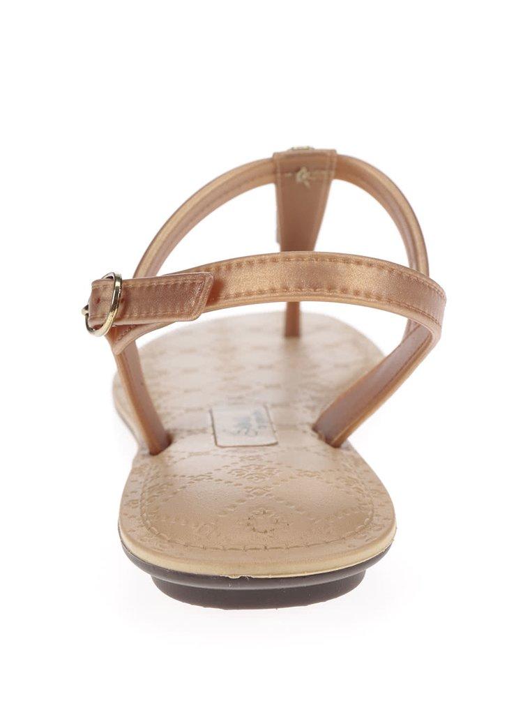 Sandály ve zlaté barvě Grendha