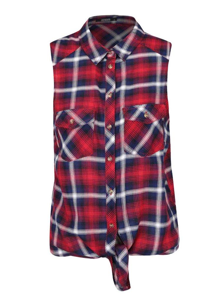 Červená kostkovaná košile bez rukávů Haily´s Niky