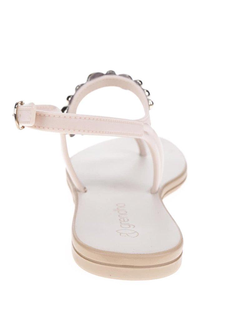 Krémové sandálky s detaily ve zlaté barvě Grendha