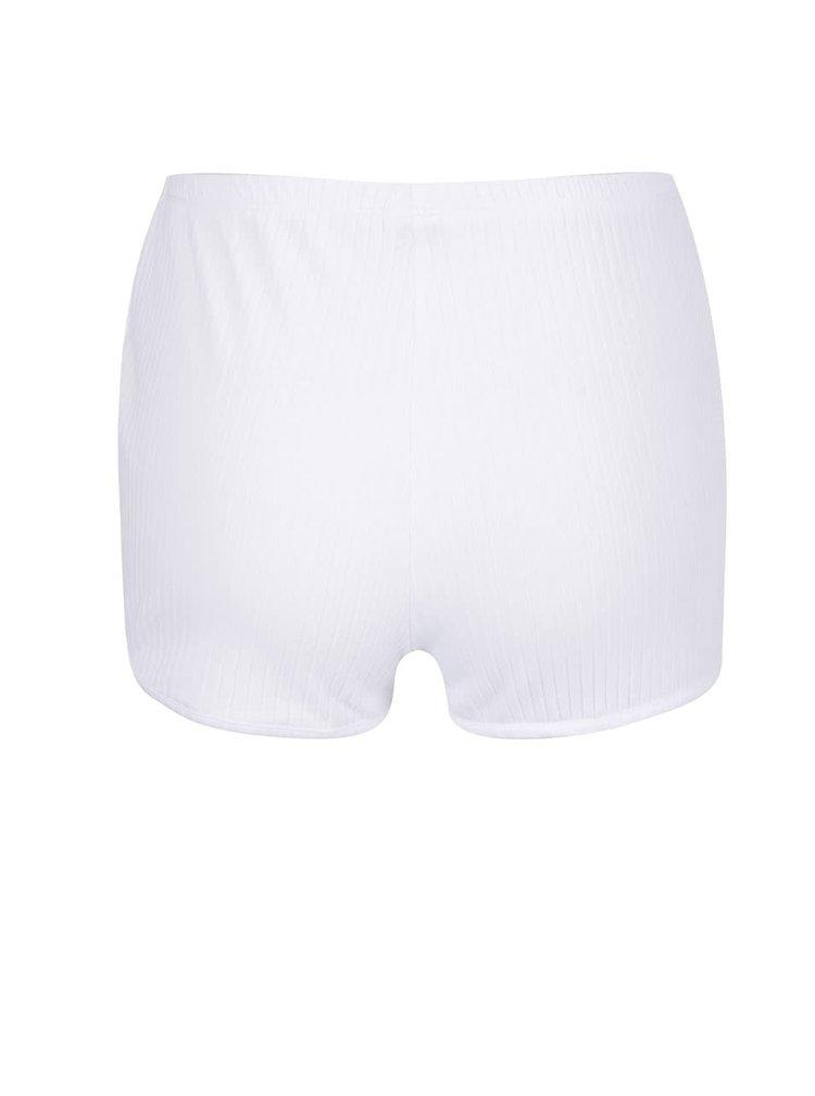 Pantaloni scurți albi TALLY WEiJL cu imprimeu unicorn