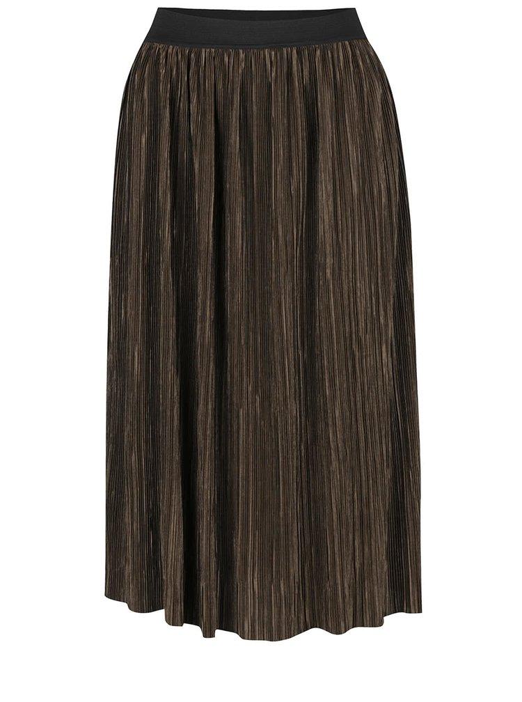 Tmavě zelená plisovaná sukně TALLY WEiJL