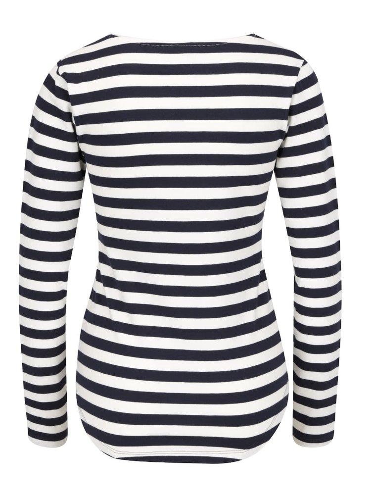 Krémovo-modré pruhované tričko s dlouhým rukávem Haily´s Tina