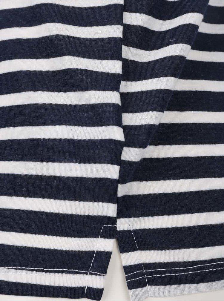 Bielo-modré pruhované tielko s čipkovanými detailmi na chrbte Haily´s Janet Stripe
