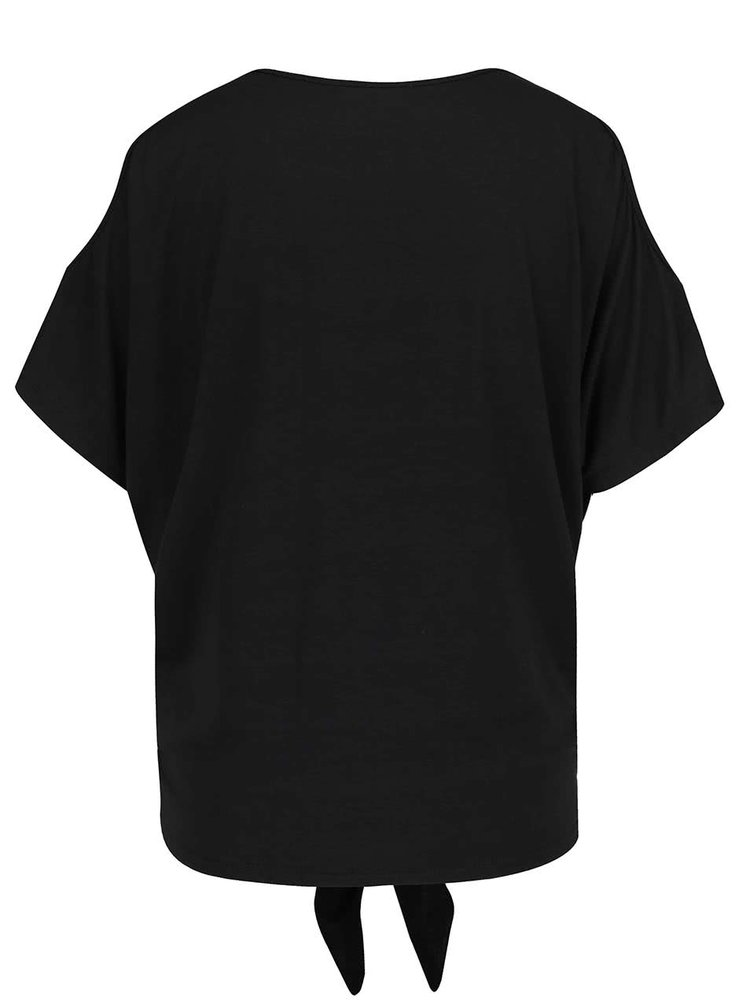 Tricou negru Haily's Nina cu decupaje pe umeri