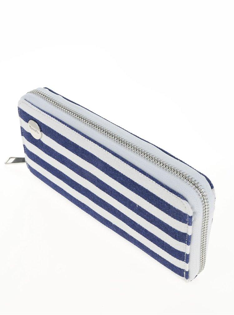 Portofel alb & albastru inchis Bench din bumbac cu model in dungi