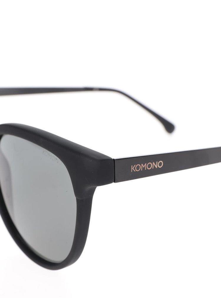 Ochelari de soare negri Komono Francis pentru bărbați