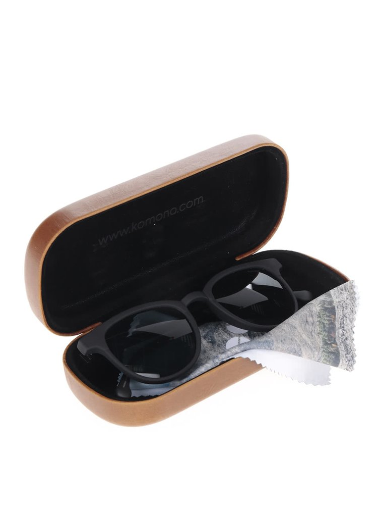 Černé unisex sluneční brýle Komono Francis