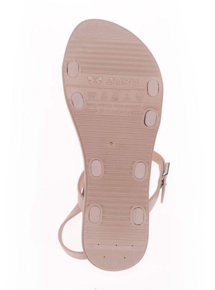 Sandale roz Zaxy cu barete subțiri