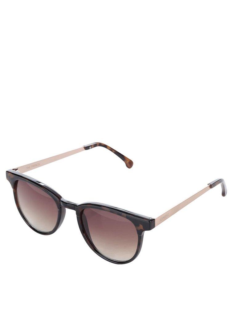 Hnědé dámské sluneční brýle Komono Francis
