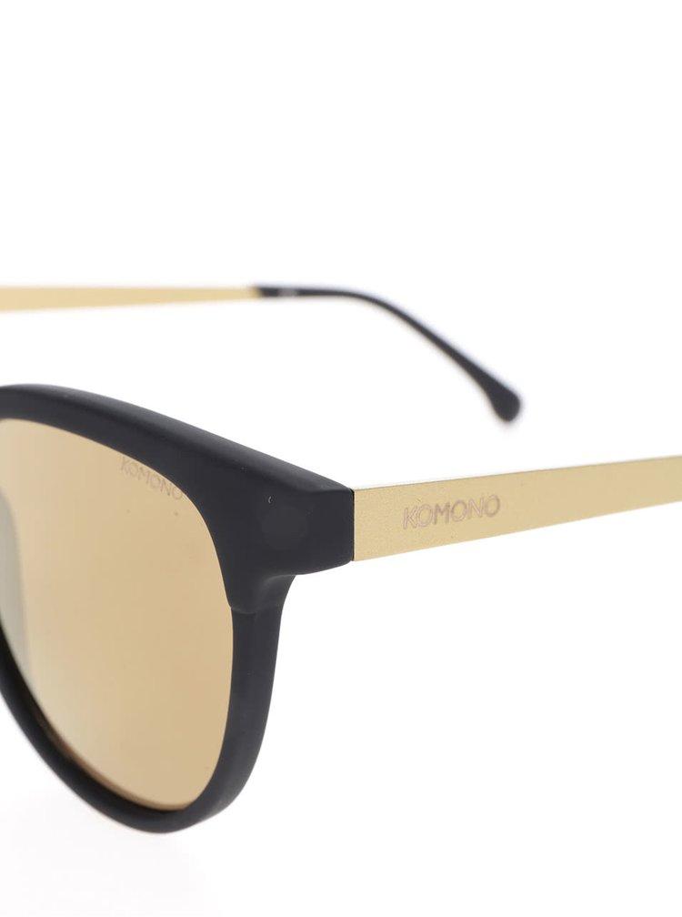 Čierne dámske slnečné okuliare Komono Francis