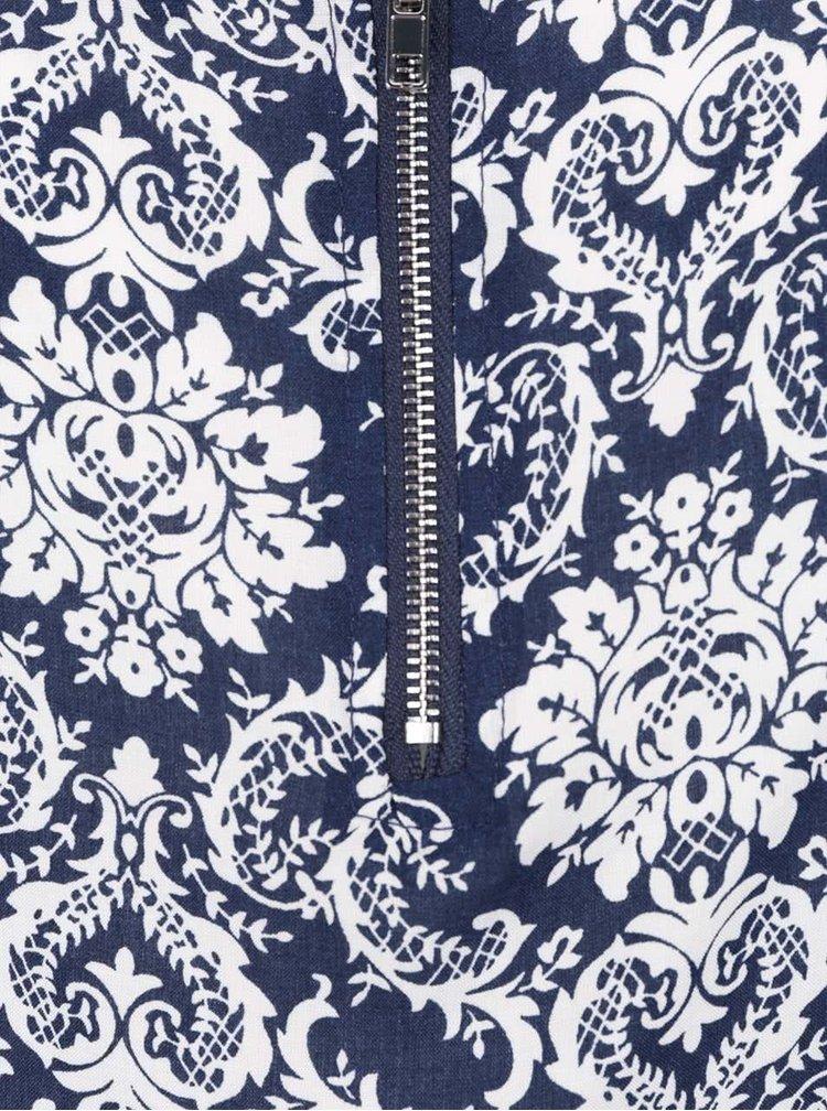 Bílo-modrá volná vzorovaná halenka Haily´s Cami Roxanne