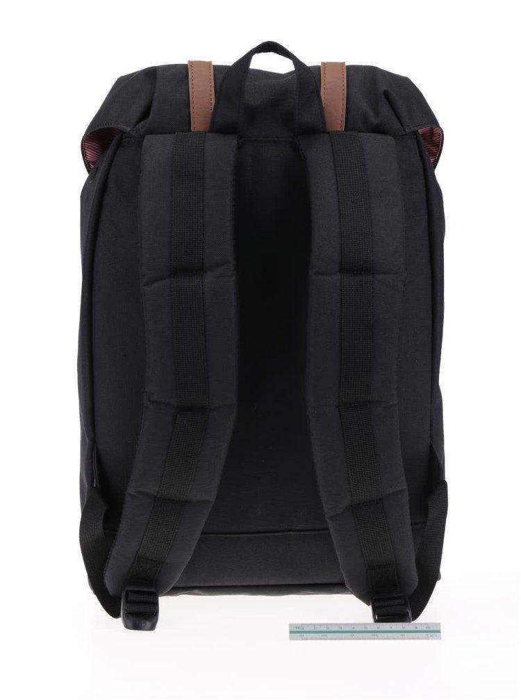 Černý batoh s hnědými popruhy Herschel Retreat 19,5 l