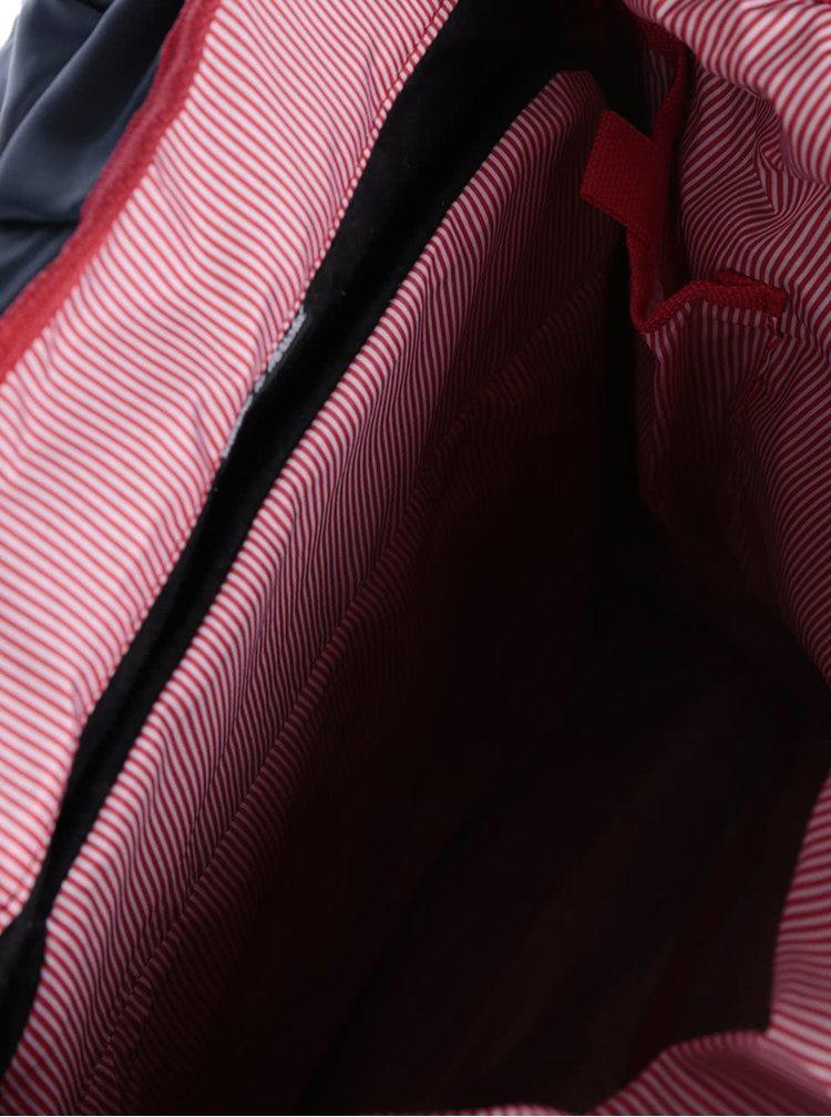 Modrý vzorovaný batoh s hnědými popruhy Herschel Retreat 19,5 l