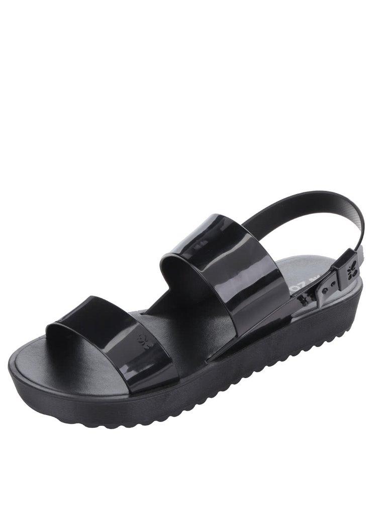 Černé sandály na platformě Zaxy