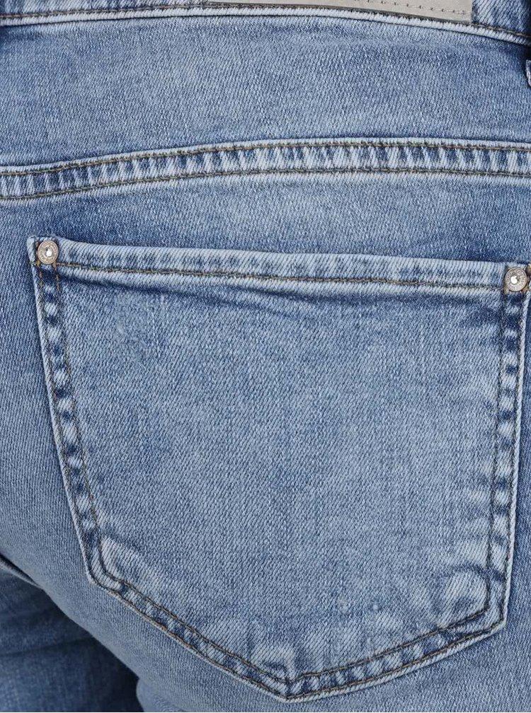 Světle modré skinny fit zkrácené džíny ONLY Sui