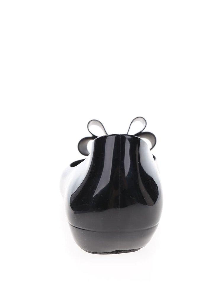 Černé baleríny s mašlí Zaxy