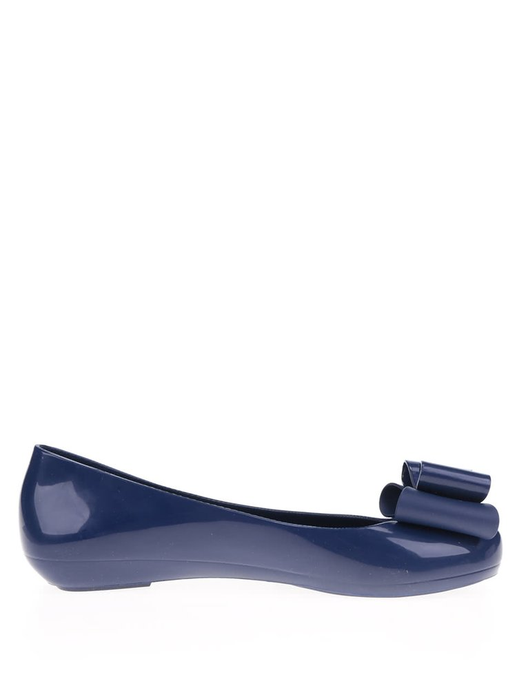 Tmavě modré baleríny s mašlí Zaxy