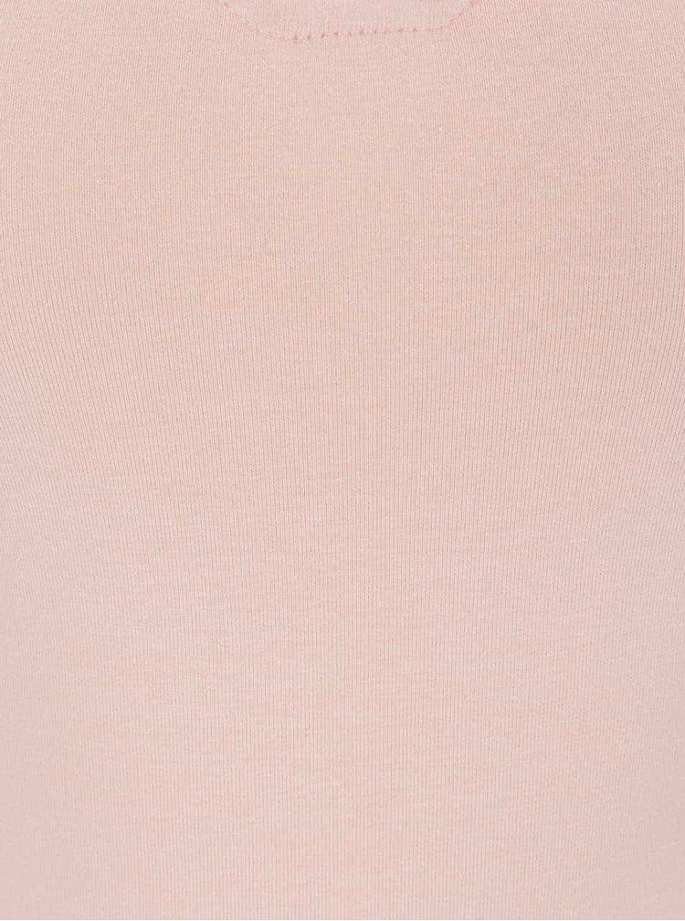 Maiou roz somon TALLY WEiJL cu șireturi încrucișate