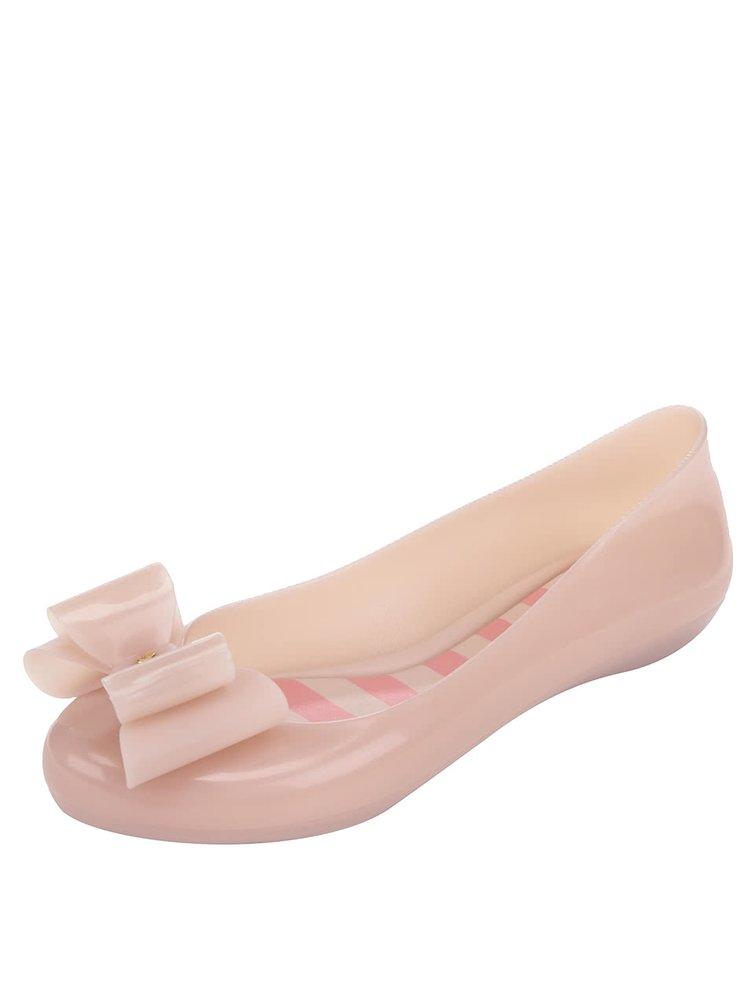 Růžové baleríny s mašlí Zaxy