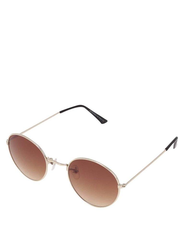 Sluneční brýle s obroučkami ve zlaté barvě Haily´s Rondie