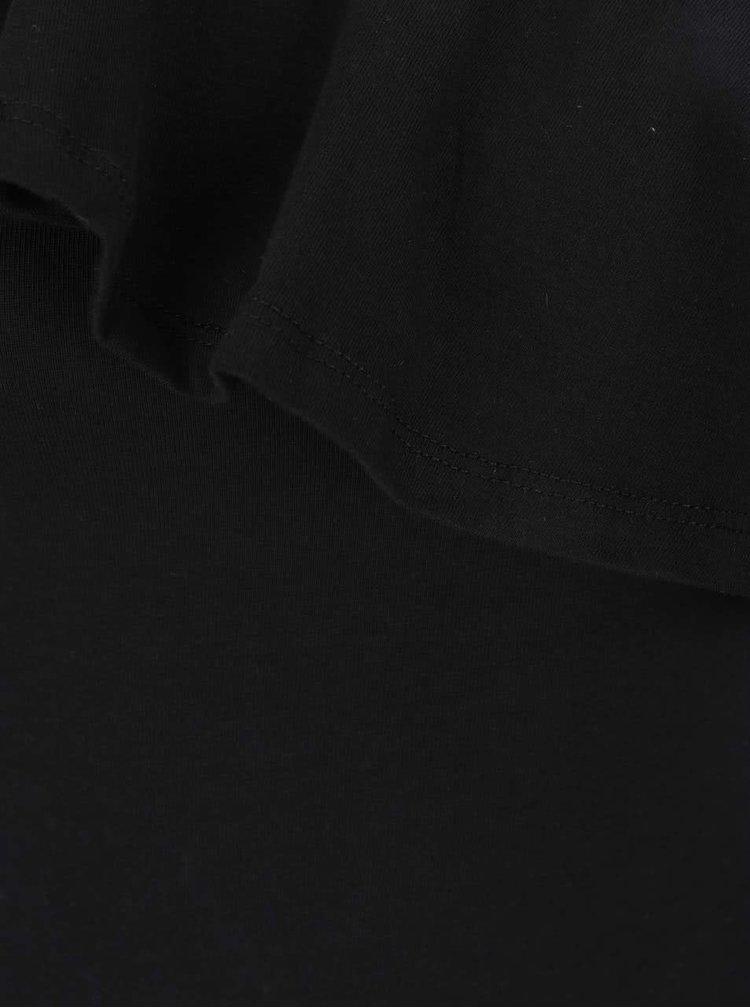 Body negru TALLY WEiJL cu volan decorativ