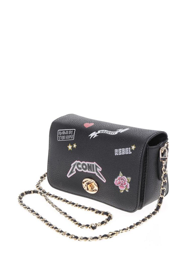 Černá crossbody kabelka s potiskem TALLY WEiJL