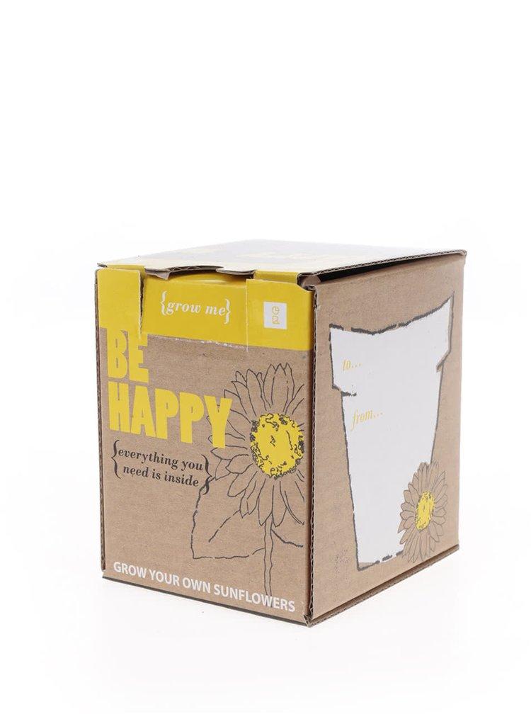 Set pro vypěstování slunečnice Gift Republic Grow me