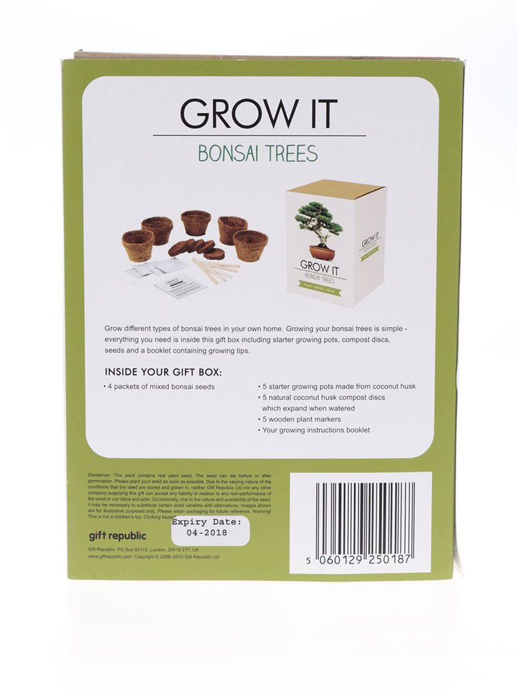 Set crestere bonsai Gift Republic Grow it
