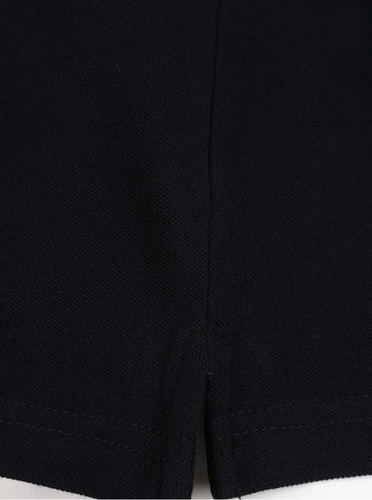 Tricou polo negru JP 1880 cu șlițuri laterale