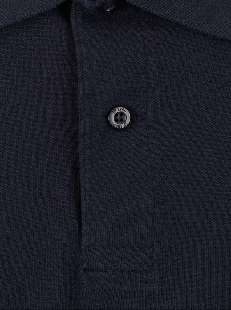 Tricou polo bleumarin JP 1880 cu slituri laterale