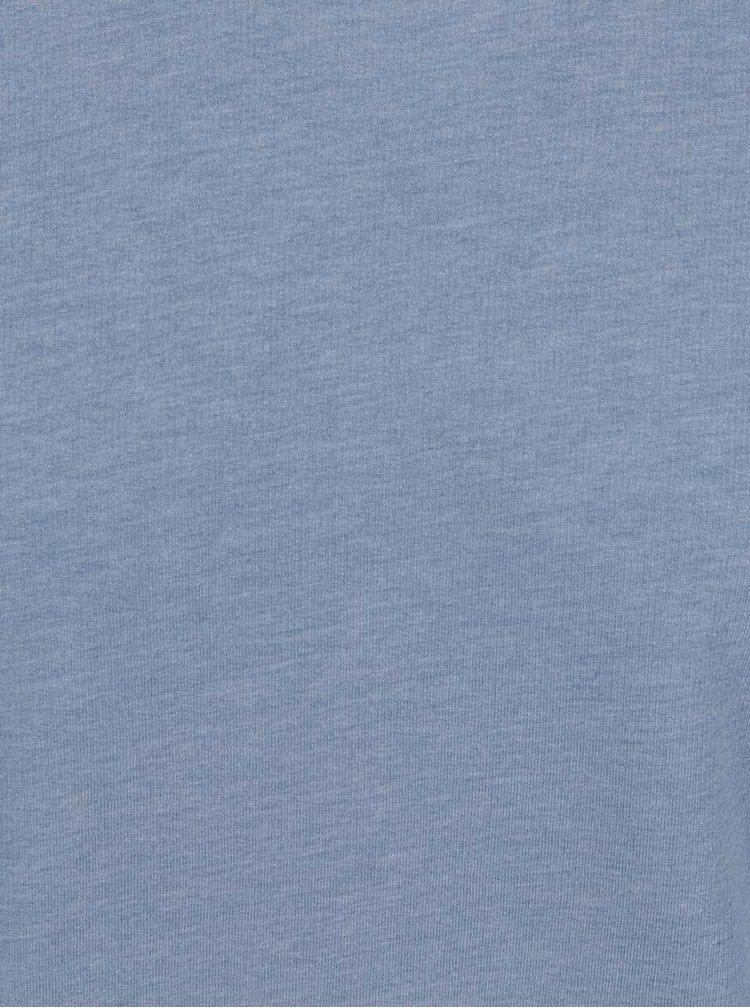 Bluză albastru melanj Jack & Jones Alex cu croi drept