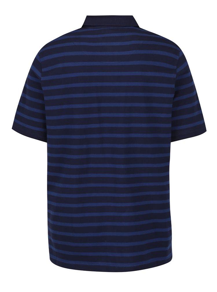Tmavě modré pruhované polo triko JP 1880