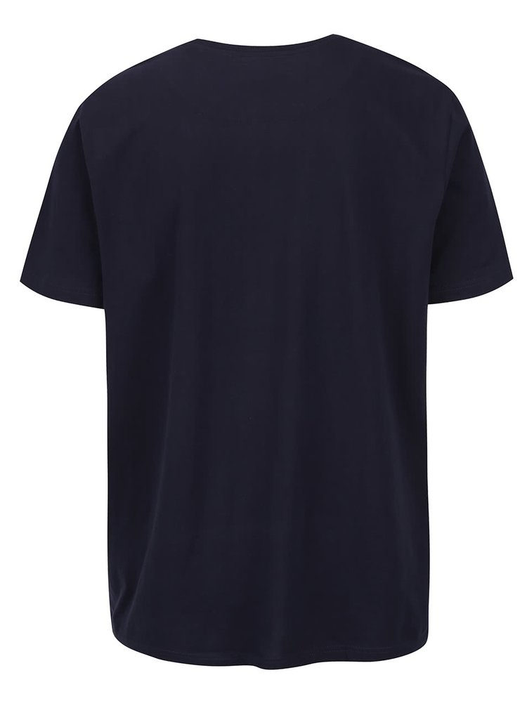 Tricou bleumarin JP 1880 cu aplicatie brodata si print
