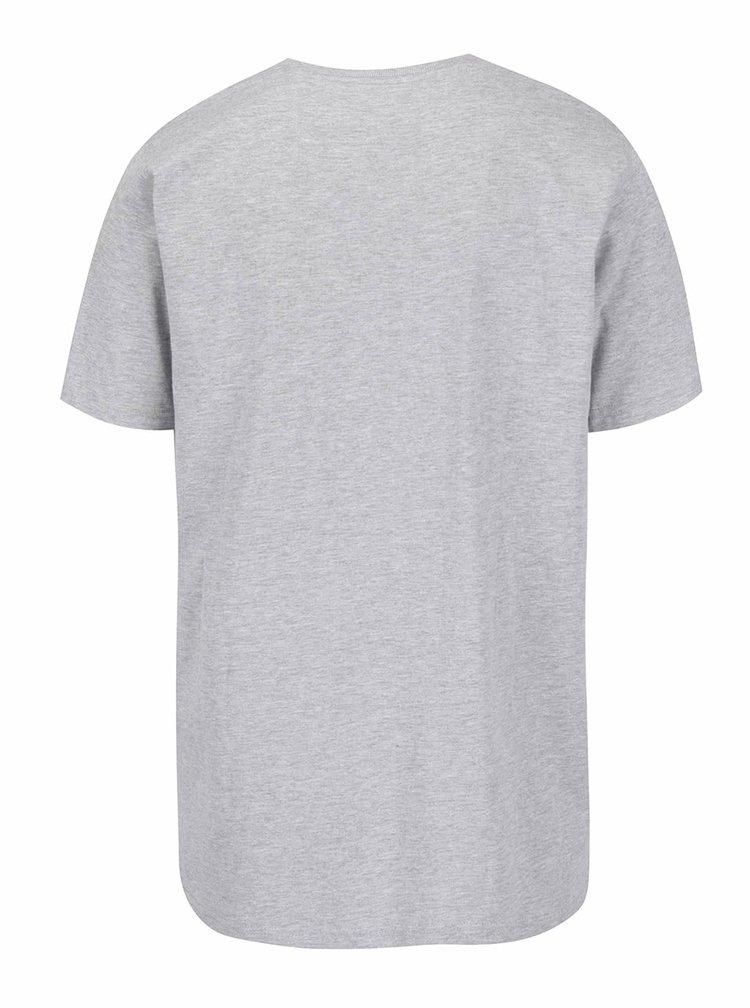 Šedé tričko s potiskem JP 1880