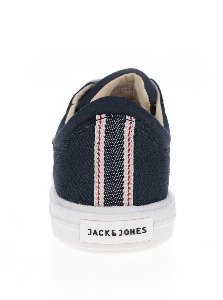 Tenisi albastru inchis Jack & Jones Mervin cu detalii albe