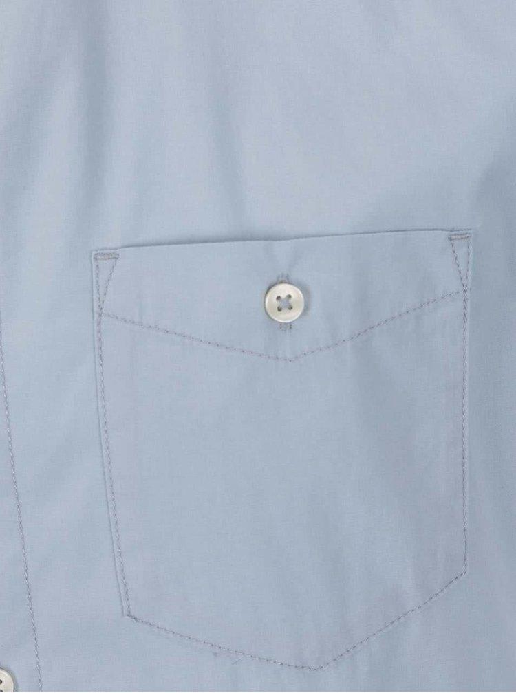 Cămașă albastru deschis Jack & Jones New Gavin slim fit din bumbac cu mâneci scurte